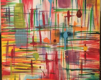 Abstract colorful lines shapes