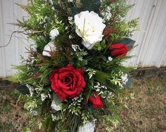 Funeral Flowers, Cemetery Decoration Flowers,  Funeral Spray, Grave Blanket, Flowers for Cemeteries, Decorations for Grave