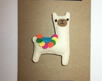 Llama Magnet card. Llama card. Birthday card, cute Llama card, anniversary card, cute card, alpaca, Mother's Day card, gift, magnet