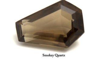 Coffin Gemstone Smokey Quartz 3ct 5ct & 10ct