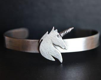 Bracelet Unicorn. Handmade silver bracelet. Exclusive bracelet.