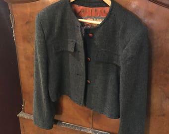 Mondi ladies cropped wool jacket