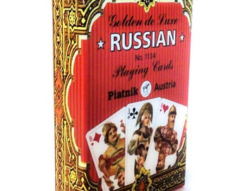 Russian playing cards .gold series 55