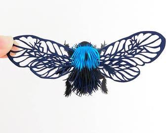 Miniature Paper Sculpture / Insect Paper Cut / Collage Paper Cut / Paper Sculpture Gift/Butterfly Paper Sculpture /Papercut Art/Papercutting