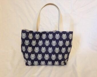 Owl Small Tote Bag / Lunch Bag / Small Tote Bag