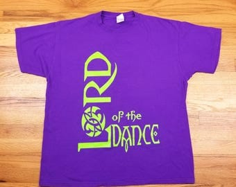Vintage 90s Lord of The Dance Purple Shirt Size XL