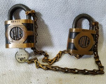 Yale padlocks matching set