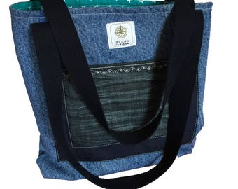 New and recycled jeans bag