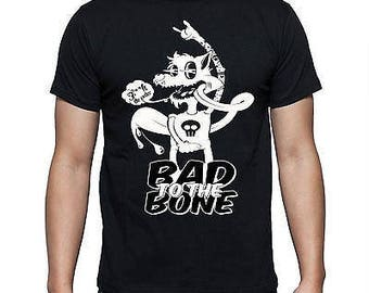 """Mens Bad To The Bone Wolf """"F**k The Police"""" - Black T-shirt"""