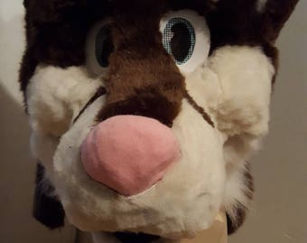 Brown husky fursuit head or partial
