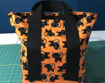 Trick or Treat Tote in Black Cats
