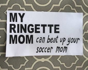 Ringette mom decal