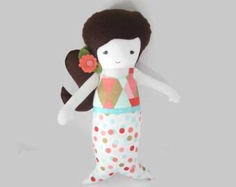 Fabric doll rag doll mermaid-Arya