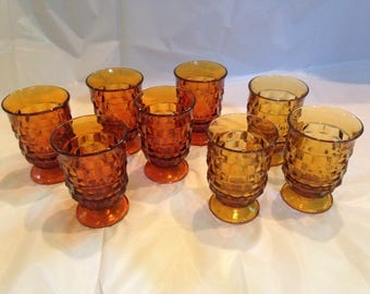 Whitehall Amber Juice Glasses