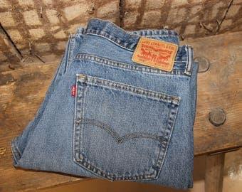 Vintage LEVI'S 505 Jeans , Levis 505 Red Tab Jeans , Levi 505 High Waist Jeans , 36x32 Levis , 36 waist Levis jean , Straight Leg jeans