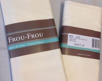 Color ivory cotton canvas fabric