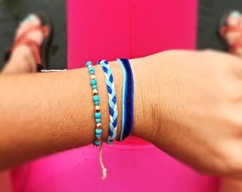 3 set of Stackable friendship bracelets
