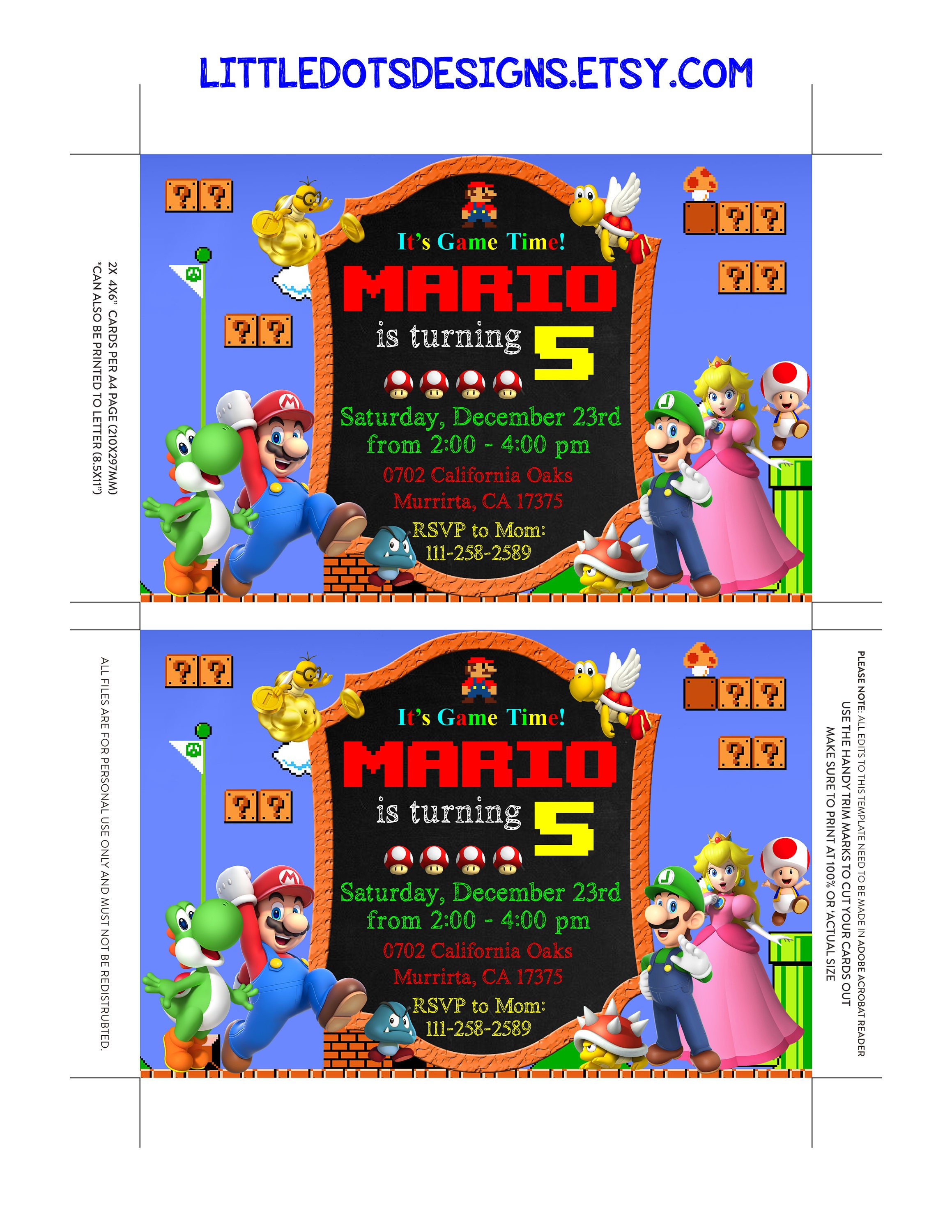 Super mario invitation super mario party super mario birthday super mario invitation super mario party super mario birthday super mario pdf editable monicamarmolfo Gallery