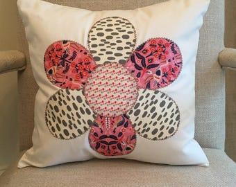 16x16 flower applique pillow