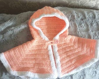 New! Baby short hooded Cape, 6-12 months, Girls/boys
