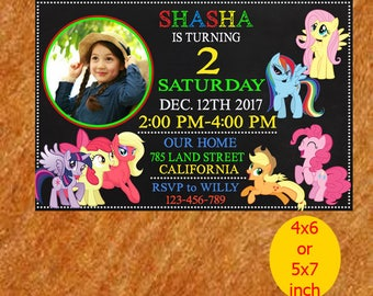 My Little Pony Invitation, My Little Pony Birthday Invitation, My Little Pony Birthday, My Little Pony Party, My Little Pony Printable