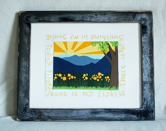 sunshine in my soul paper cut art