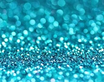 TURQUOISE BIO GLITTER - Biodegradable Glitter- Festival Bio Glitter - Eco Friendly Glitter - Mermaid Glitter- Cosmetic Grade - 375 microns