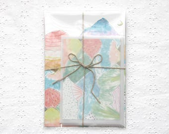 Letter writing set with mountains