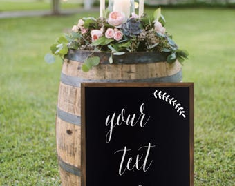 Custom Chalkboard | Framed Chalkboard | Wedding Chalkboard | Party Chalkboard | Home Decor Chalkboard | Chalkboard Quote