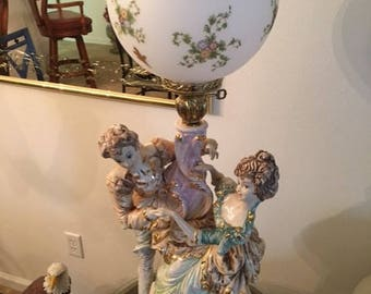 Ceramic Glass Classical Doll Table Lamps