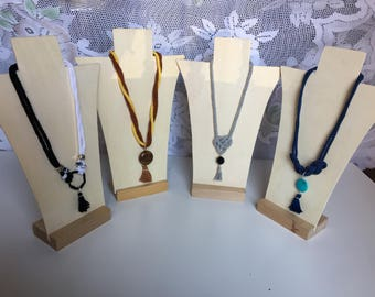 Necklaces made of cotton or cotton rope and tassel pendant