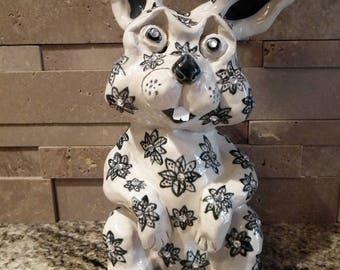 Bejeweled Ceramic Bunny