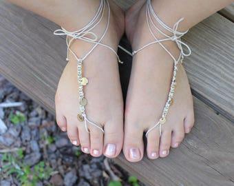 Hemp barefoot sandals, gold barefoot sandals, beach wedding sandals, barefoot sandals, bangle flip flops, bangle barefoot sandals
