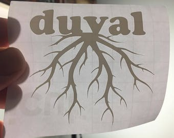 Duval County Rooted decal - ANY City, County OR STATE!