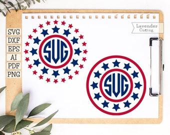 Monogram frame svg July 4th svg Patriotic svg files Svg 4th of July Svg file download America svg files Svg dxf eps png pdf Cricut vinyl