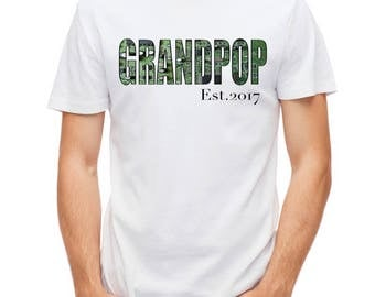 Grandpop Est. 2017 T-Shirt, Custom Date, Circuit Board, Men's T-Shirt, Fathers Day, Gift For Dad, Computer, Technology, Circuit Board