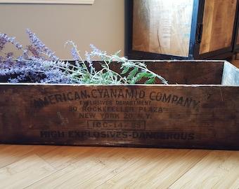 American Cynamid Company Explosives Crate