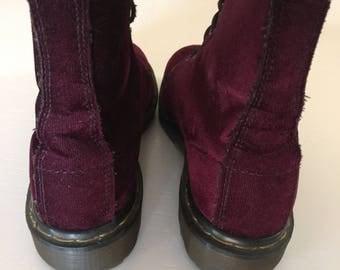 Vintage Velvet Dr Martens Boots