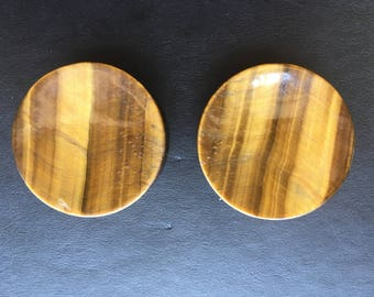 2inch Concave Face Tiger Eye Plugs