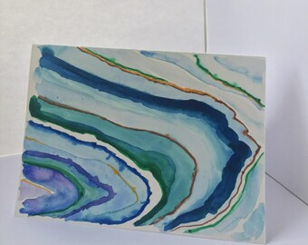 Agate Inspired Blank Card