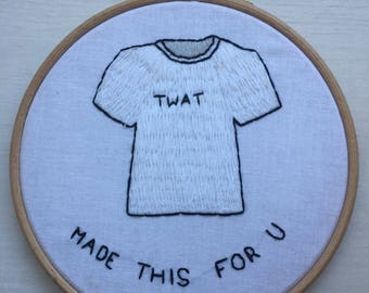 Swearing Embroidery