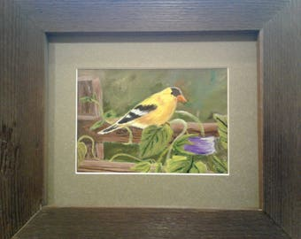 Yellow Finch Painting