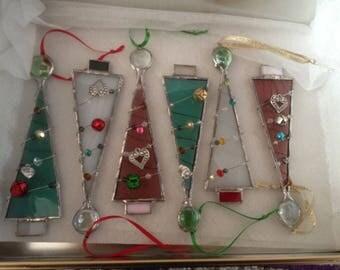 Christmas tree Glass sun catcher