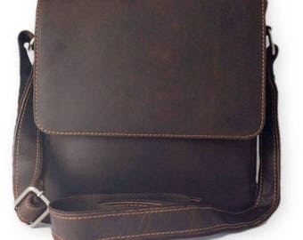 New 100% Genuine Leather Messenger Shoulder Crossbody Bag Satchel