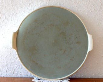 Plates Villeroy and Boch Mettlach, green antique, made in Saar basin