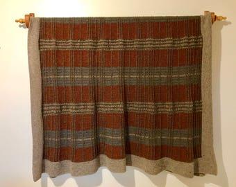 Hand-Knit Wool Blanket