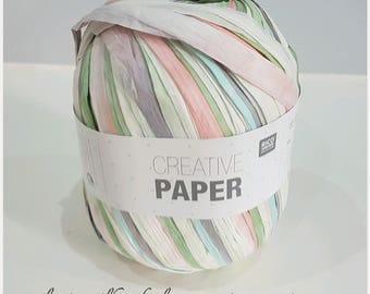 Creative Paper Rico 100% paper fiber multi color pastel thread
