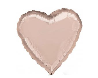Rose Gold Foil Heart Balloon