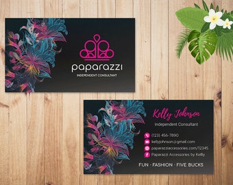 PERSONALIZED Paparazzi Business Card, Custom Paparazzi Accessories Business Card, Fast Free Personalization, Printable Business Card PZ08