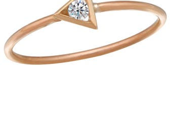 Triangular shape stackable ring